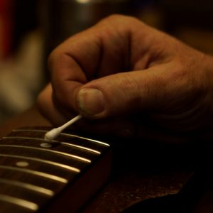 Fretboard work requires careful attention to detail